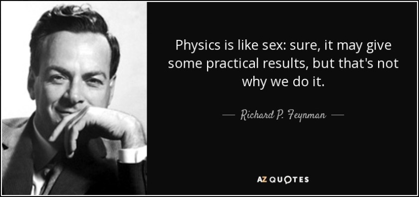 Feynman sex quote